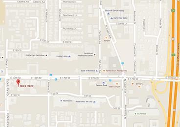 Santa Ana Campus Map