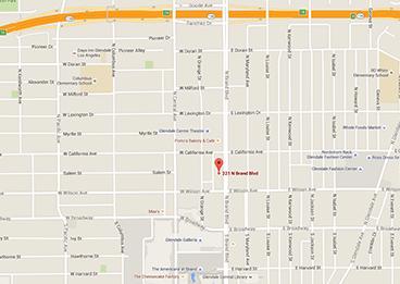 Glendale Campus Map