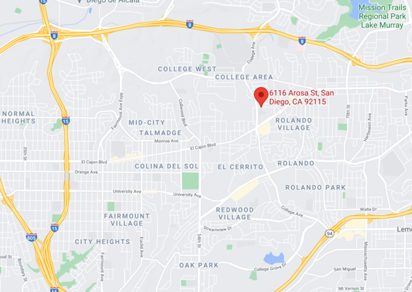 San Diego Campus Map
